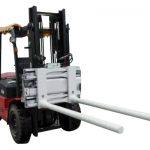 Բռնակով կողպեքի կողպեքով սեղմիչներով Forklift- ով