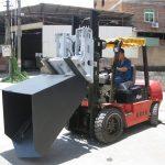 3 տոննա Hyundai Diesel Forklift Attachment Ducket Hinged Fork And Bucket