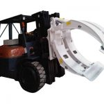 Նյութի բեռնաթափման սարքավորում Forklift Paper Roll մամլիչ